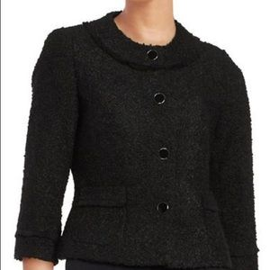 Karl Lagerfeld size 12 black boucle jacket
